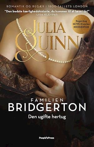 Familien Bridgerton-serien er endelig på udkommet på dansk. 'Den ugifte hertug' og I 'En uventet forelskelse' er hhv. første og anden bind ud af otte.  De 10 mest populære romantiske romaner